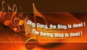 Lyrics: Ding dong, the blog is dead.