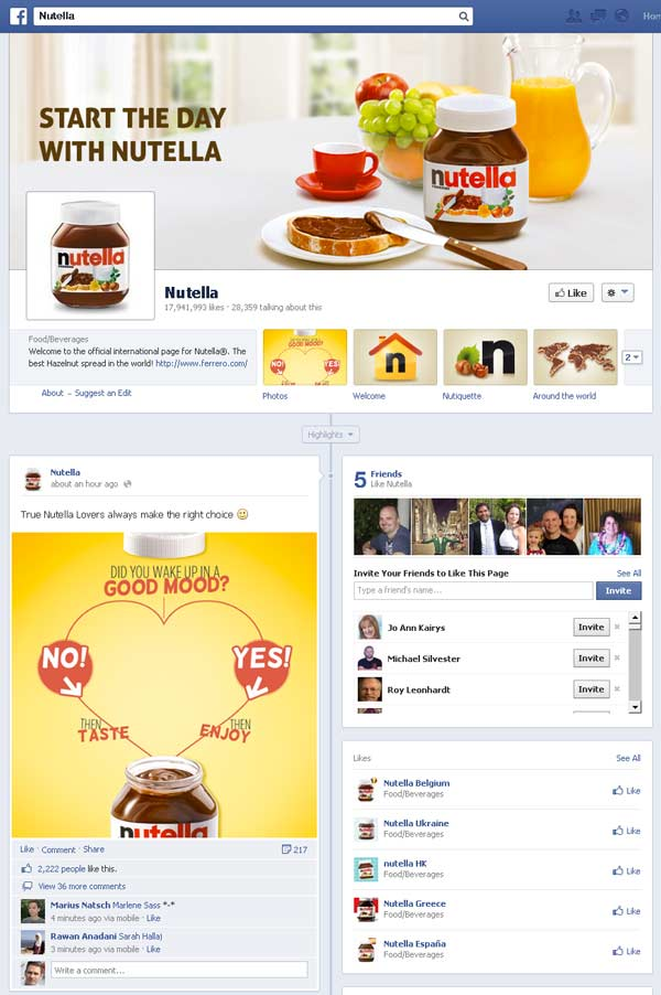 facebook-page-nutella