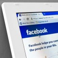 Facebook page on tablet