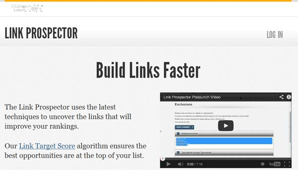 screenshot linkprospector