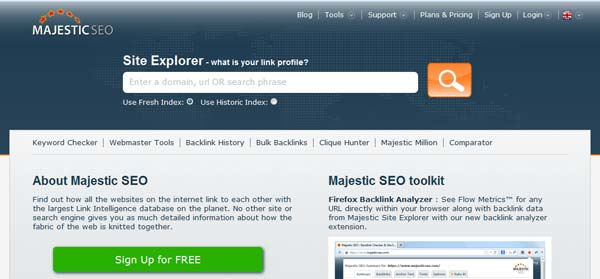 screenshot majesticseo