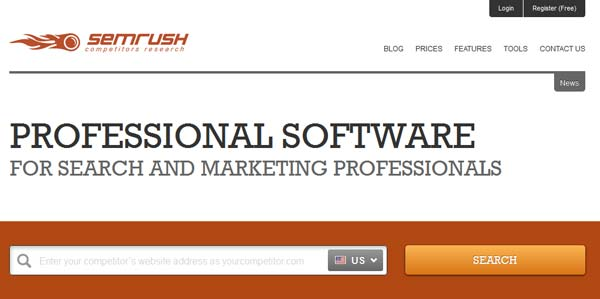 screenshot semrush