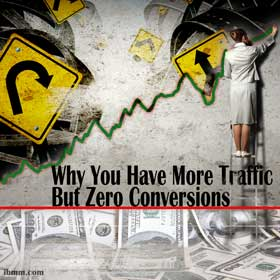 Why You Have More Traffic But Zero Conversions