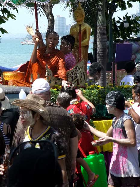 Monks at songkran
