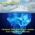 Iceberg symbolizing how Facebook edgerank hides most of your updates from followers.