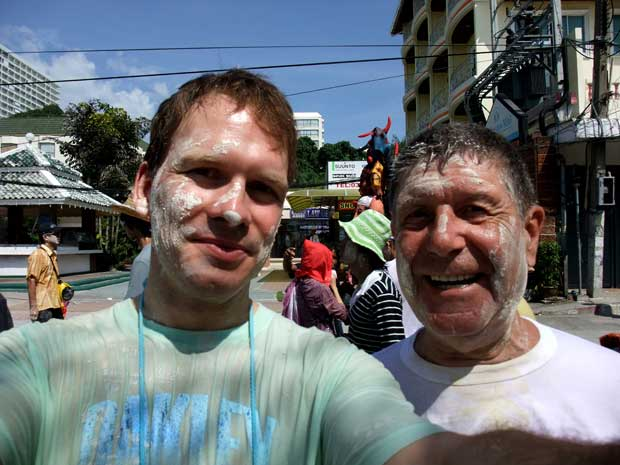 Ralf and Gerd at Songkran