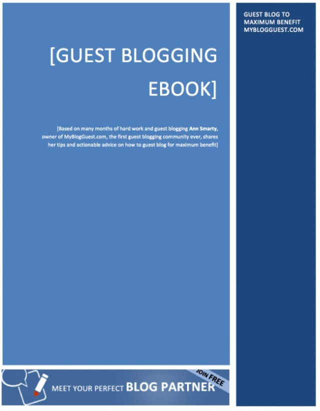 Cover image of guest blogging ebook.