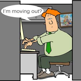cartoon office cubicle