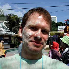 Me at Songkran in Pattaya, Thailand