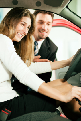 Car Sales Person Offering Test Drive