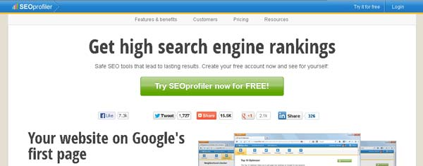 screenshot seoprofiler