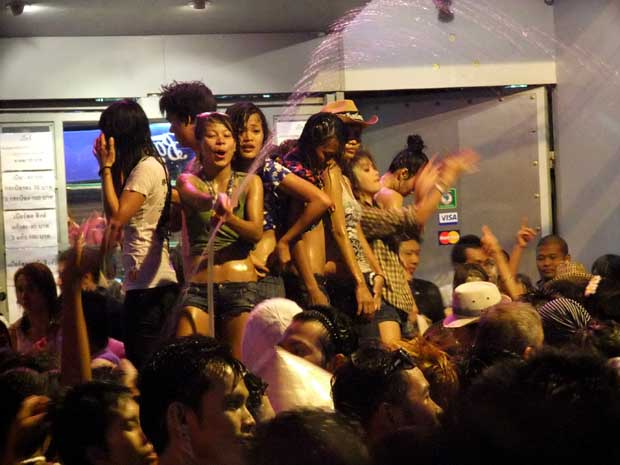 Songkran People Dancing