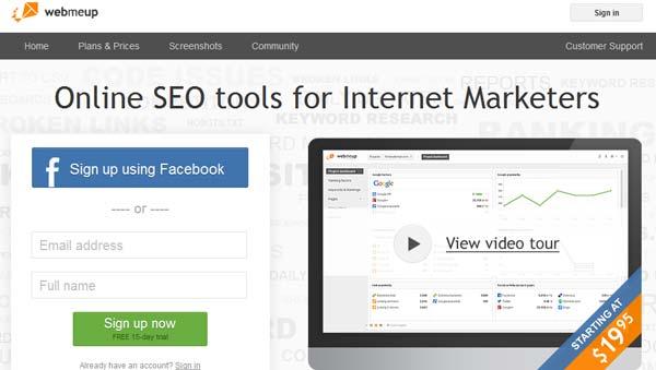 screenshot webmeup