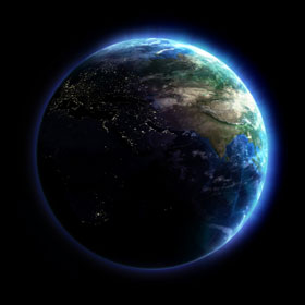 The earth - 1.5 Billion Internet Users.